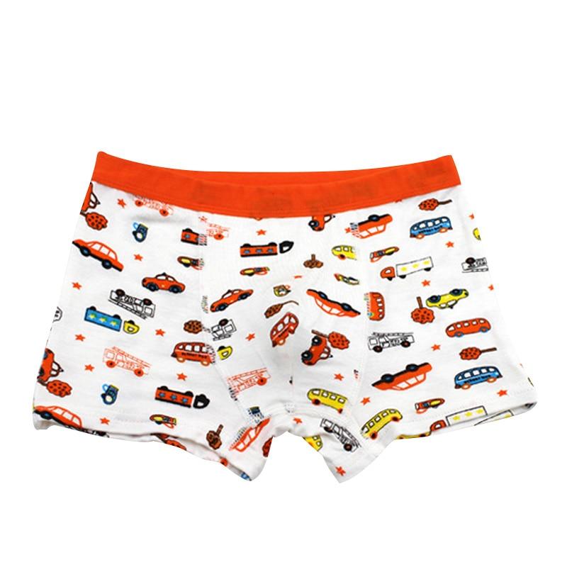 1PC Toddler Baby Cute Short Panties Children Boys Cartoon Car Elastic Modal Briefs Underwear Pants Kids Clothing Accessories