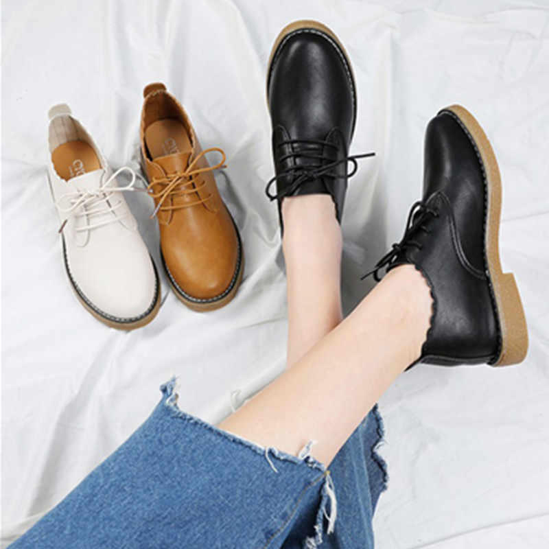 Oryginalne skórzane buty damskie oksfordzie 2020 luksusowe Oxford casual Woman wygodne mokasyny buty mieszkania damskie mokasyny buty