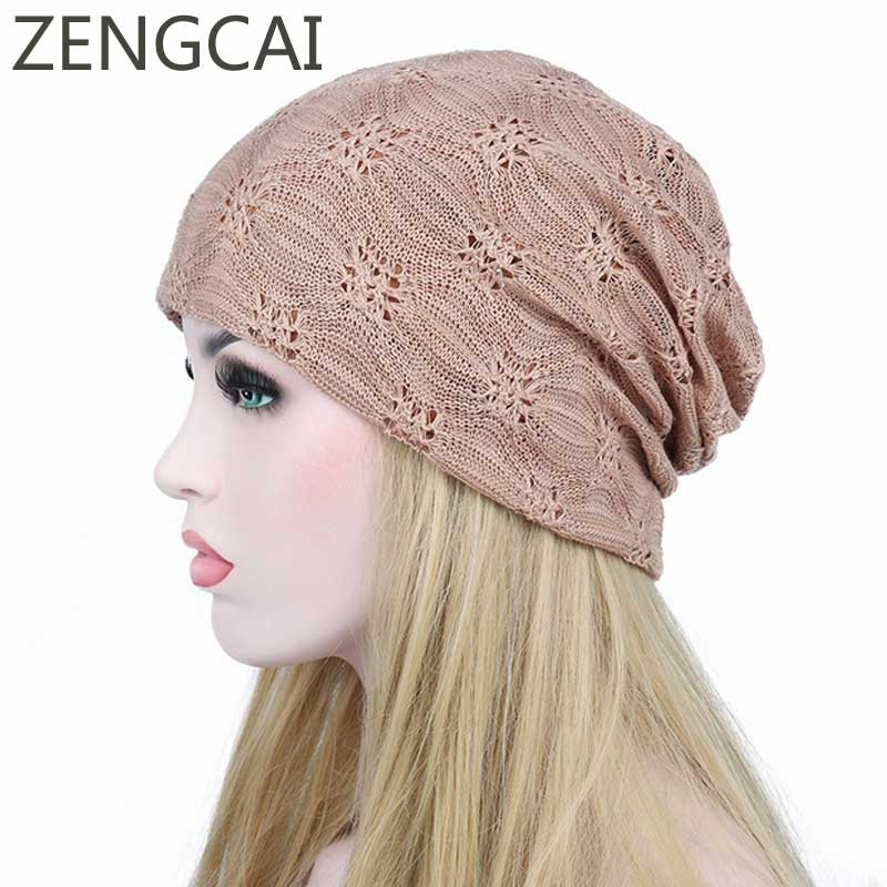 Beanies For Ladies Turban Hat Female Skullies Beanie Knitted Baggy Caps Winter Women Knit Cotton Cap Elegant Autumn Lace Hats 2017 autumn and winter womens beanie brand knitted hat turban butterfly diamond skullies cap ladies lnit hats for women beanies