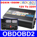 With UPS System Doxin 1500W Power Inverter 20A Battery Charger DC 12V To AC 220V 1500 Watt Converter Power Source For Car House