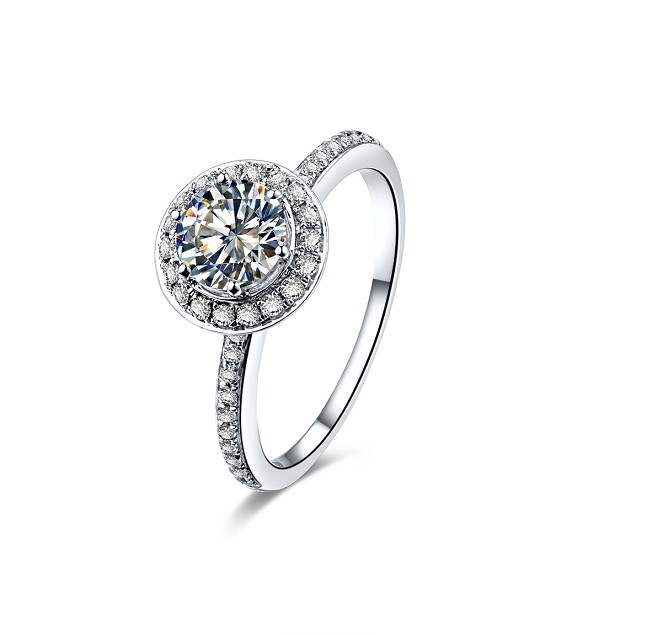 Vintage Accents 3Ct Round Cut Moissanite Ring CHARLES