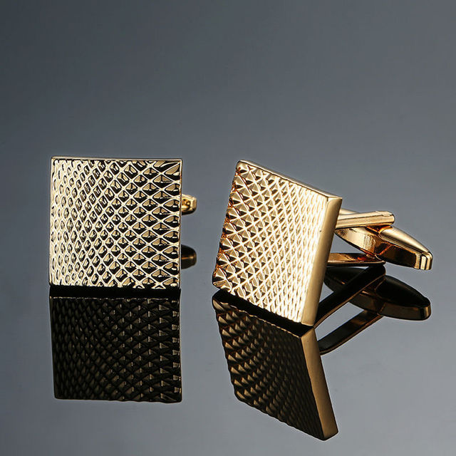 Quality copper, enamel, square cuff-links