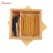 Math Teaching Aids Bead Bars for Ten Board Montessori Wooden Box Number 1-10 Exercise Toy Games Children Kids MA016-NX3