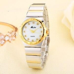 Image 2 - MISSFOX Elegantนาฬิกาผู้หญิงเพชรตัวเลขโรมันPearl Shell Classicสุภาพสตรีนาฬิกากันน้ำหญิงควอตซ์นาฬิกาข้อมือ
