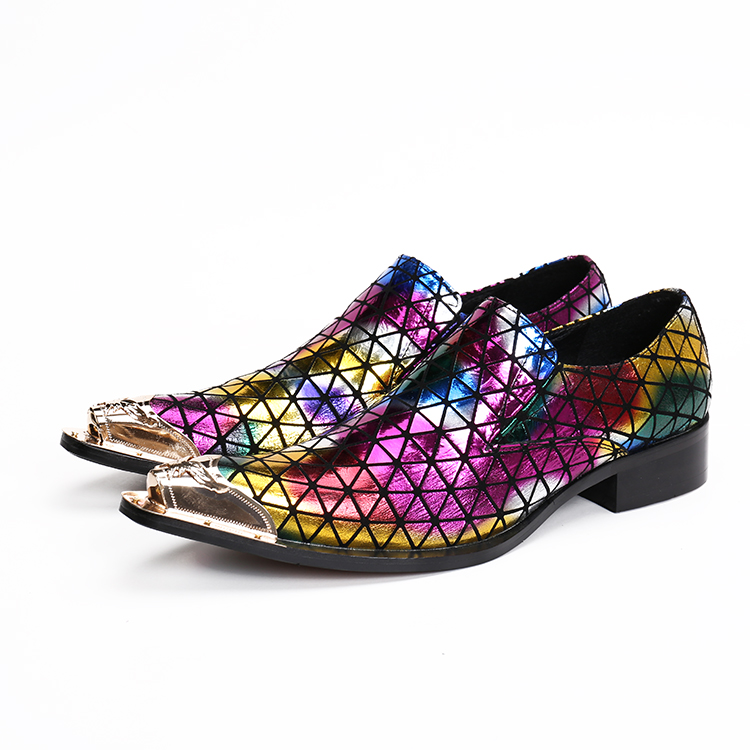 Size47 Cores Sapatas Oxford Vestido As Misturadas Ouro Zapatillas Picture Sapatos Homens Couro Do Dos as Aço Baile De Picture Pointy Pé Genuínos Dedo Hombre Para Z0q7R