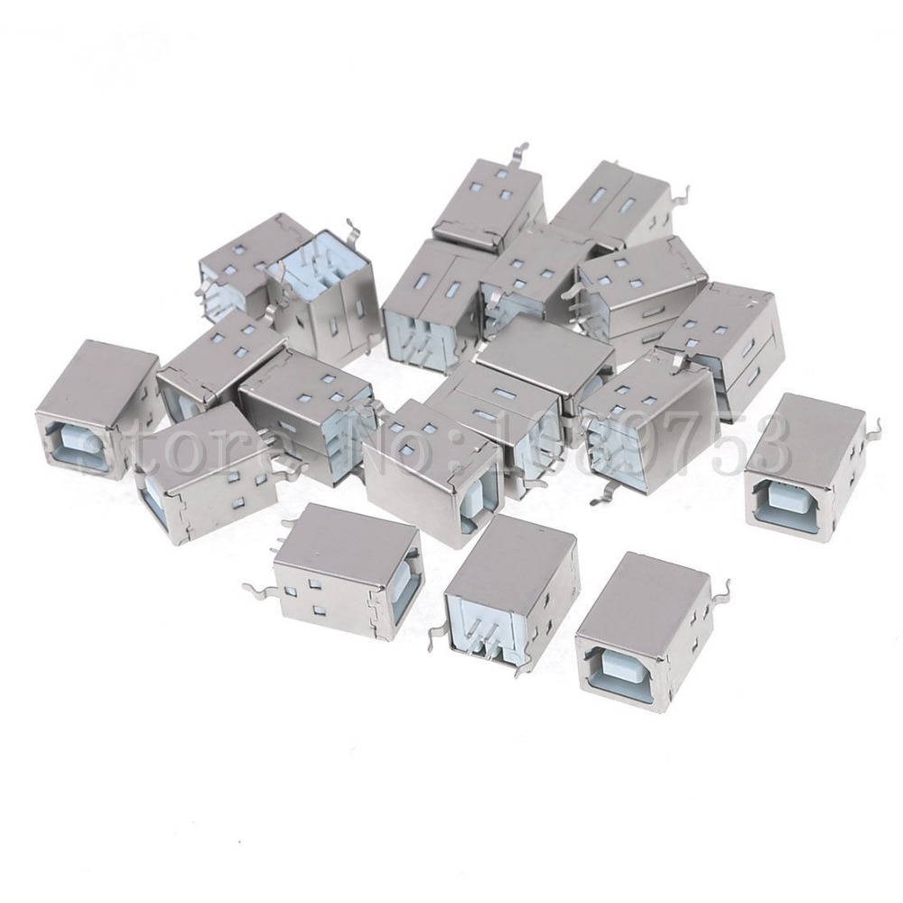100 Pcs USB 2.0 B Type Female Printer Socket to 4Pin Connector Socke 10pcs g45 usb b type female socket connector for printer data interface high quality sell at a loss usa belarus ukraine