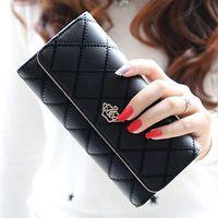 Fashion Women Leather Long Wallet Cute Lady Thread Purse Girl PU Leather Clutch Bag Card Holder Clutches