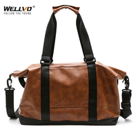 High Quality PU Leather Men Travel Duffle Bag sac de voyage Women Bucket Luggage Large Handbag Shoulder Crossbody Bag XA205WC