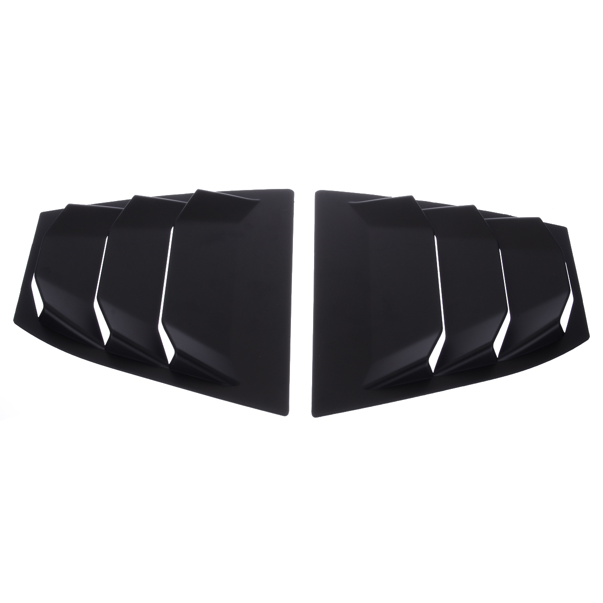 1 Pair Rear Quarter Panel Window Side Louver Vent ABS Matte Black For Mazda 3 AXELA 14-17
