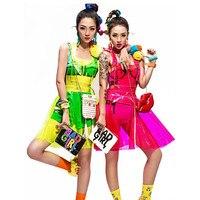 Vinly PVC כולל פלסטיק Harajuku נלהבת פסטיבל תלבושות בגדים ללבוש לראות דרך שמלת קיץ שמלות
