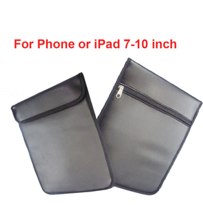 """Image 1 - 16 stücke Anti Scan Karte Hülse PU tasche ok für telefon & 7 10 """"Pad w/ signal jammer tasche & strahlung blocker tasche schutz tasche anti scan"""
