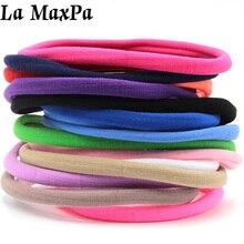 12 PIeces/lot Spandex Nylon Headband For Children Girls Kid DIY Skinny Hairband Headwear Hair Accessories