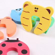 1pcs/set Kids Baby Cartoon Animal Jammers Stop Edge  Corner for Children Guards Door Stopper Holder lock Safety Finger Protector