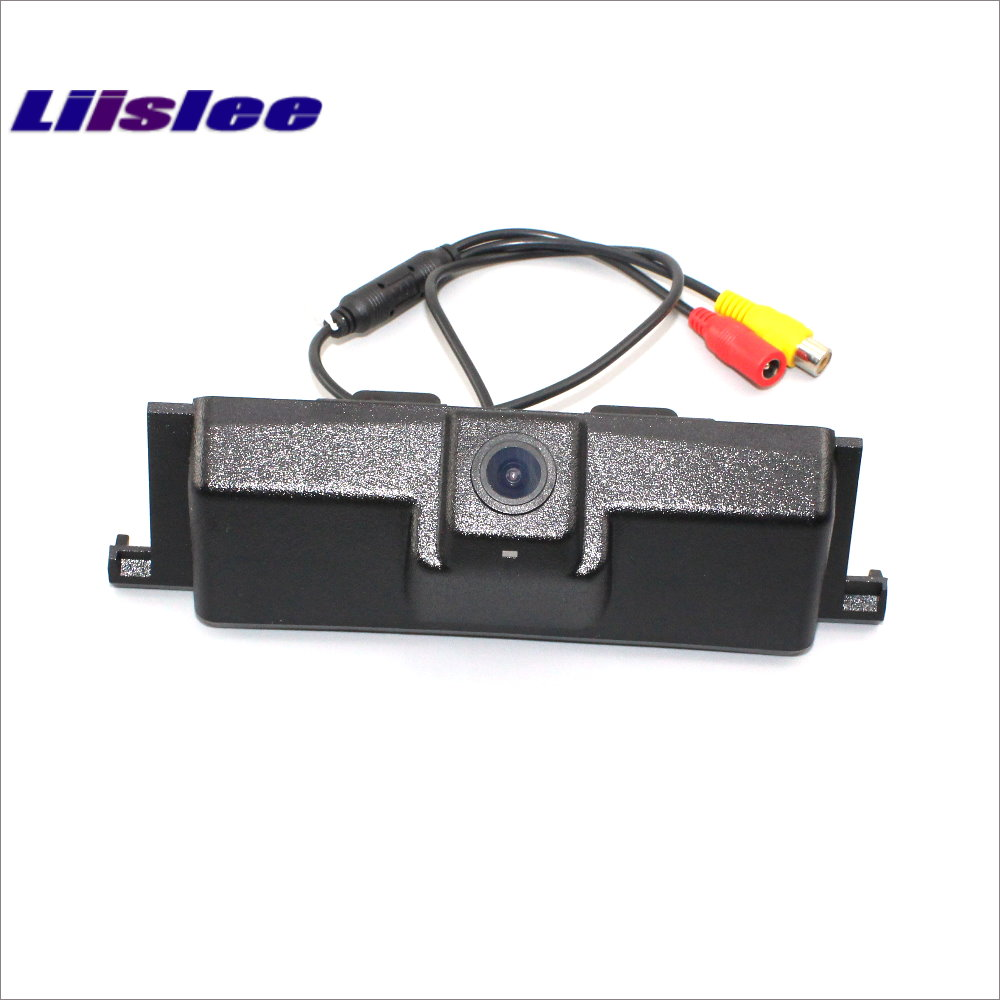 Liislee Car Rearview Reverse Parking Camera For Ford Edge 2015 2017 Trunk Handle HD CCD Rear View Camera Parking line in Vehicle Camera from Automobiles Motorcycles