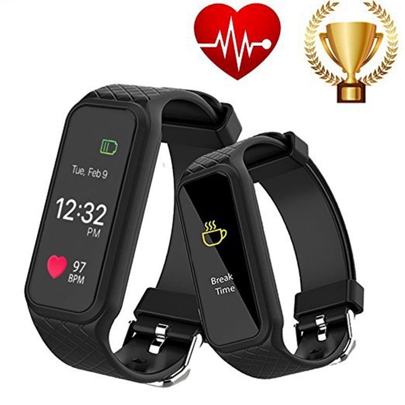 L38I Bluetooth Smart Band Dynamic Heart Rate Monitor Full color TFT LCD Screen Smartband for IOS