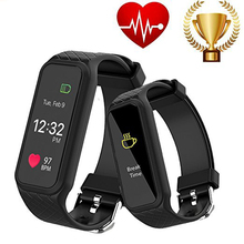 L38I Bluetooth Smart Band Dynamic Heart Rate Monitor Full color TFT-LCD Screen Smartband for IOS Android Smartphone