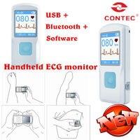 CONTEC PM10 New FDA Handheld Portable ECG EKG Machine Heart Beat Monitor LCD USB Bluetooth