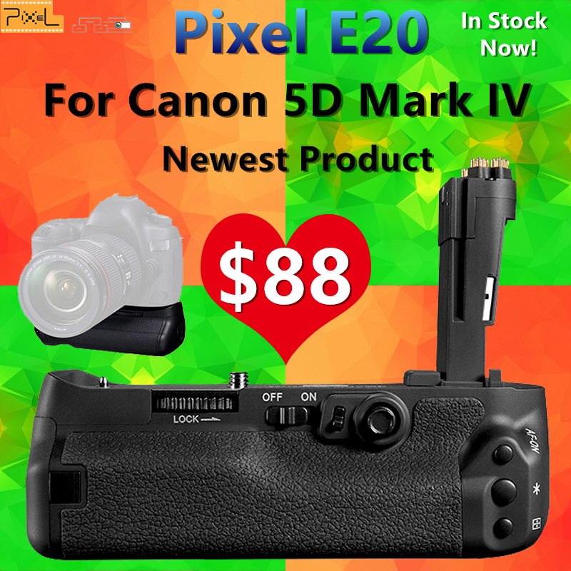 Camera Battery Grip for Canon 5D Mark IV 5D4 MarkIV Pixel E20 Replace for Canon BG-E20 Compatible for LP-E6 LP-E6N Battery lp e6n lp e6n lpe6n e6 lp e6 amera battery for canon eos 60d 70d 6d 7d 7d2 5d2 5d3 5ds 5dsr 60da 5d mark ii iii