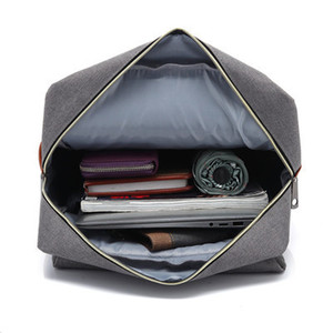 Image 4 - Vintage Fashion Women Backpack Large Canvas Backpacks Mens Laptop Travel School Business Teenage Girls Square Satchel Bookbag