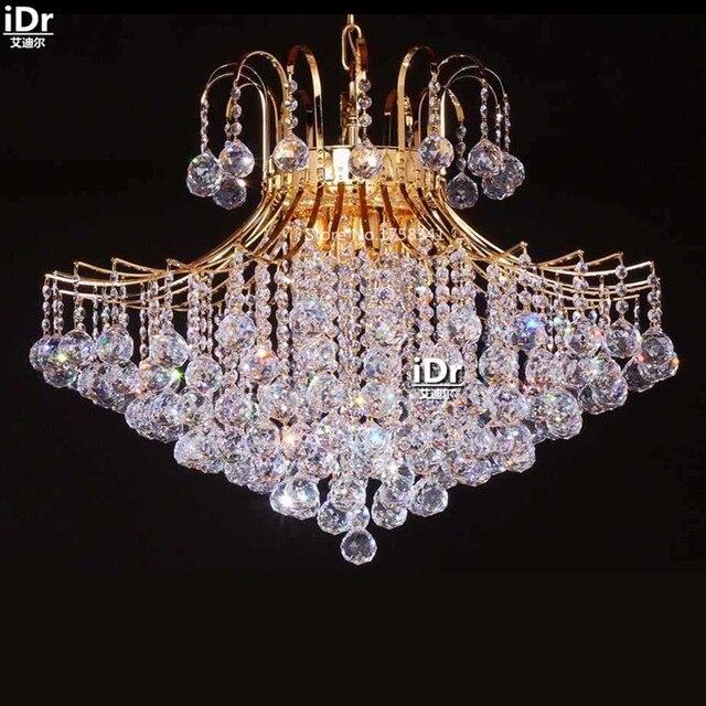 Chandeliers Luxury Crystal Lamp Bedroom Elegant Small Empire Jig D70cm Xh55cm