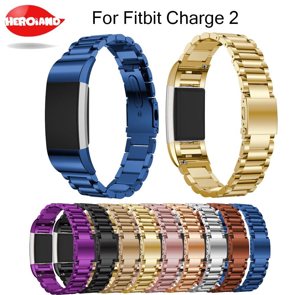 Ersatz für Fitbit Ladung 2 Edelstahl Armband Edelstahlarmband Uhrenarmband Armband für Fitbit Charge2