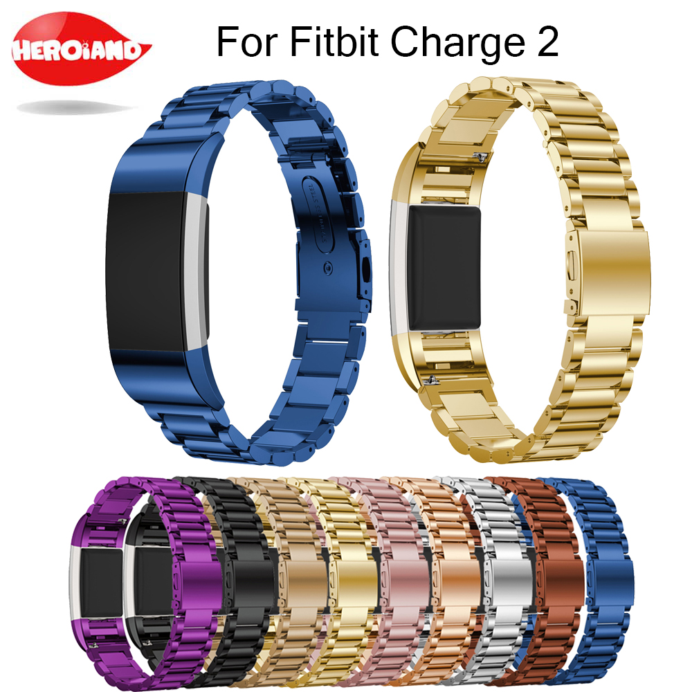 Replacement for Fitbit Charge 2 Stainless Steel Bracelet Strap Stainless Steel Bracelet Watch Band Wristband for Fitbit Charge2