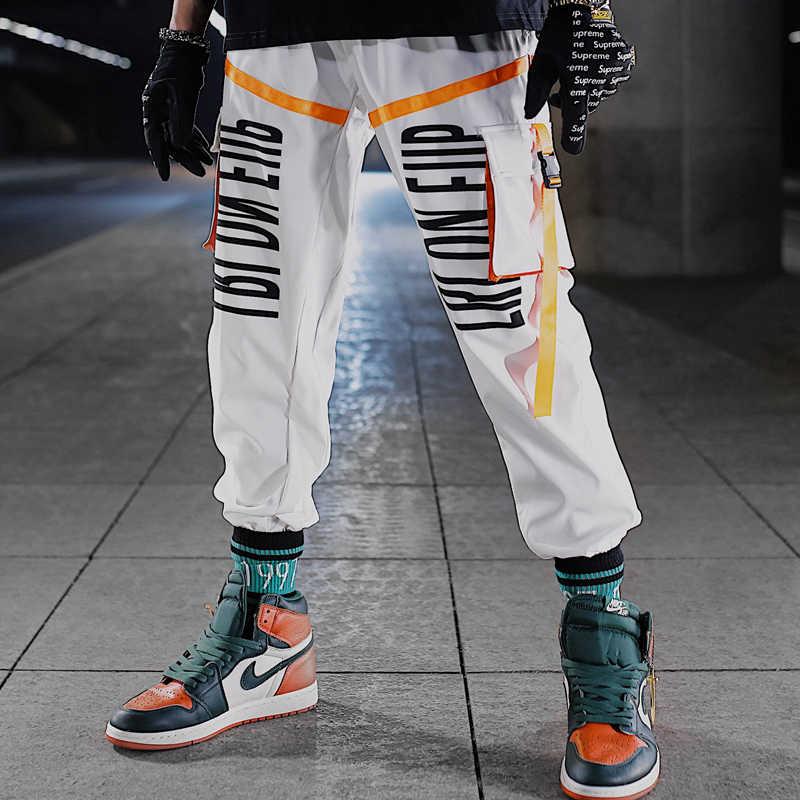 Fire Print Kleur Blok Patchwork Harembroek Mannen Hip Hop Casual Joggers Broek Mannelijke Mode Windjack Joggers Joggingbroek
