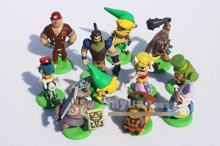 2015 Novo 4.5 centímetros 11 pçs/set Link PVC Action Figure set Modelo Coleção crianças Brinquedos Bonecas Classic Toys brinquedos