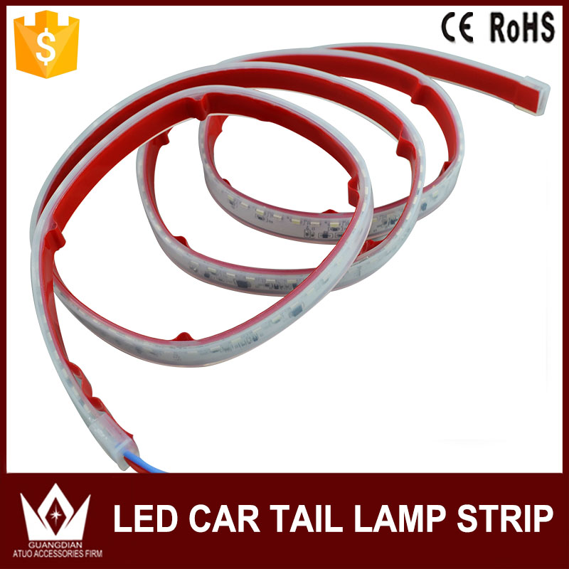 NightLord Flexible LED Car  Tailgate Light Bar red and blue Brake/Reverse/Signal/Rear Strip Light For mazda 3 6