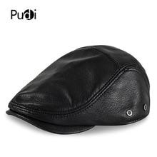 HL169-F genuine leather baseball cap hat  men's winter warm brand new cow skin leather newsboy caps hats black color цена