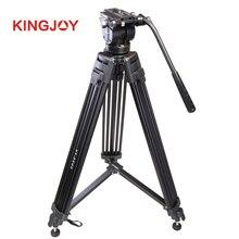 KINGJOY VT-2500 VT2500 Video Tripod Aluminum Video Camera Tripod Hydraulic Head Tripod Bag Max Loading 12KG DHL Free Shipping