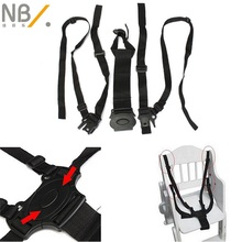 Baby Chair Stroller Pram Buggy Safe Belt For Kids Convenient 5-Point Durable Black Harness Strap Children Security