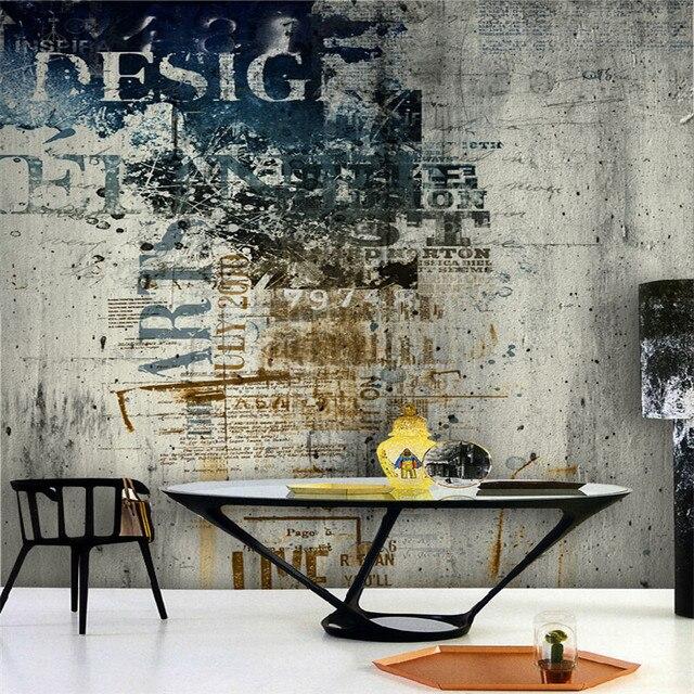 Moderne Tapete Für Wohnzimmer Graffiti Kunst Cafe Rock Stil Tapeten  Schlafzimmer Hintergrund Wandbild Sofa Malerei Wohnkultur