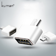 Kuman Micro USB Adapter USB to MicroUSB Adapter Cable Converter for Pendrive USB Flash Drive to Phone Mouse Keyboard OTG A