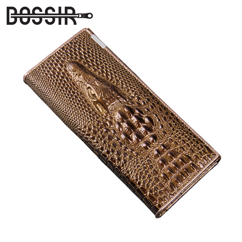 Hot Selling Genuine Leather Women Wallets Crocodile 3D Fashion Casual Purse Wallet Alligator Pattern Long Wallet Women carteira genuine leather women wallets crocodile 3d head fashion clutch purse wallet alligator pattern long wallet women carteira