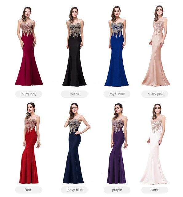Sexy Backless Appliques Burgundy Mermaid Lace Long Prom Dresses Royal Blue Black Evening Party Dress Vestido de Festa Longo 5