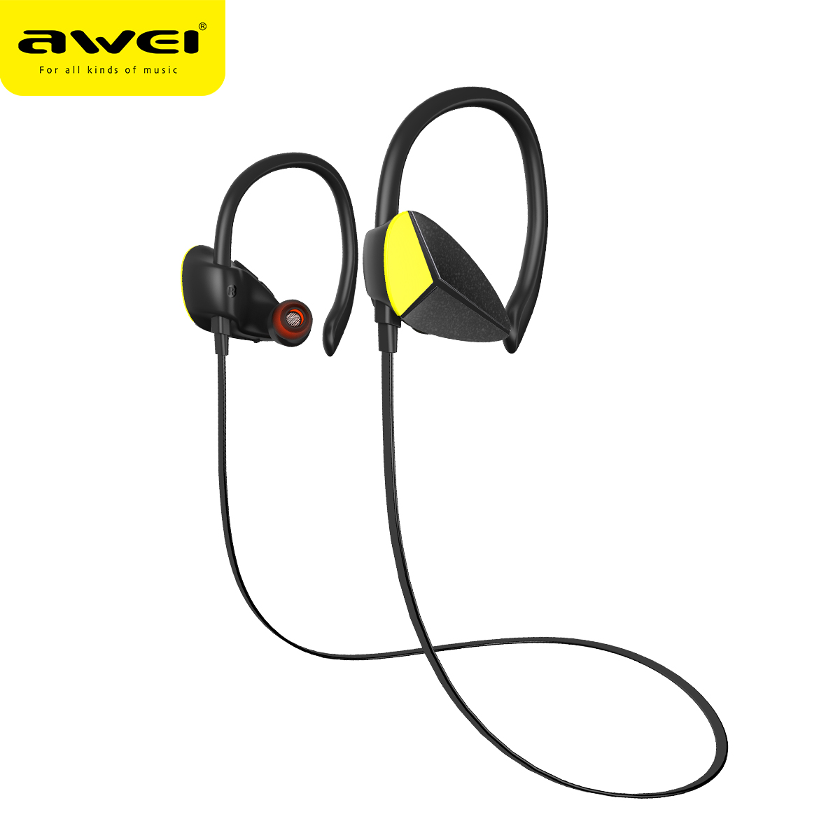 AWEI A888BL Auricolari Bluetooth Cuffia Senza Fili Con Microfono Sport Cuffie Auricolare Inalambrico Bluetooth Kulakl k