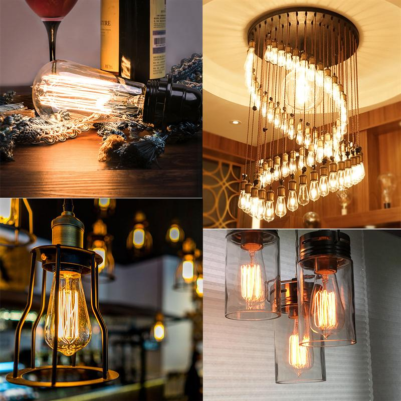 4 Pcs Edison Bulb 60w With Squirrel Cage Filament Teardrop Design Dimmable Light Bulbs For Chandeliers Lights Fixtures