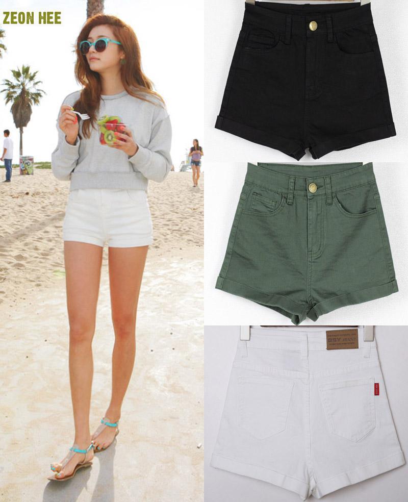 Aliexpress.com : Buy Tight Waisted Jean Shorts Slim Slim Waisted ...