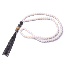 xl00159 2017 New Arrival Hot Sale Fashion White Beaded Crystal Balls Long Tassels Pendant Necklace