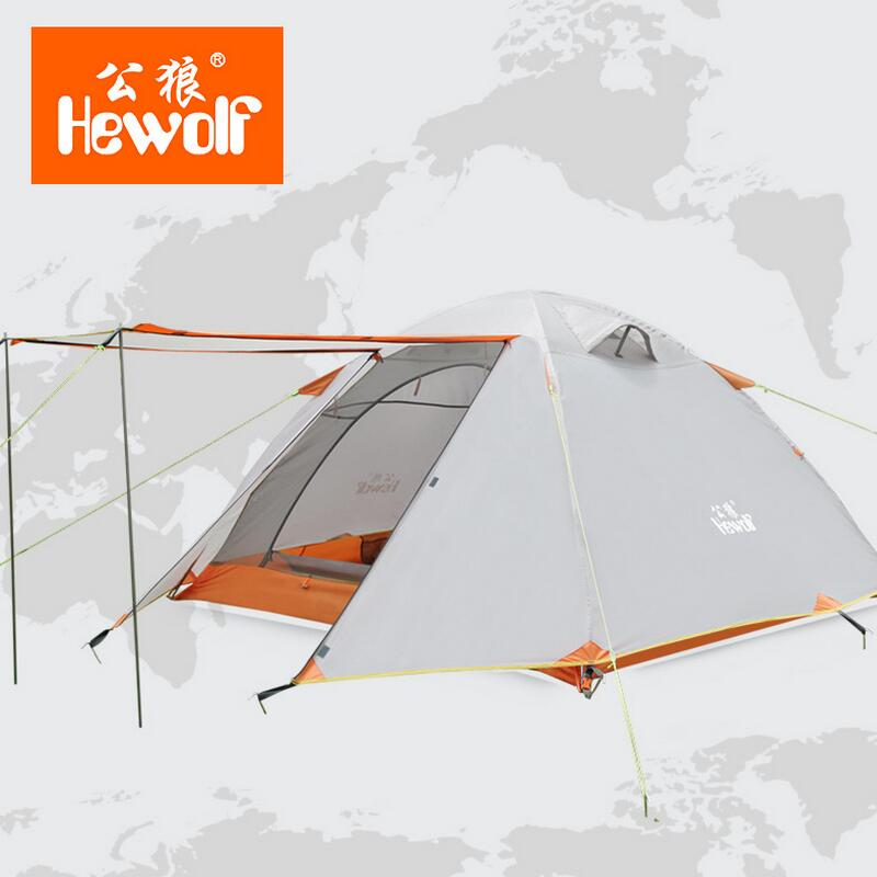 все цены на  Hewolf Waterproof Camping Tents Double Layer 3- 4 Person Outdoor Family Hiking Beach Travel Tent  4 Season Fishing Hunting Tent  онлайн