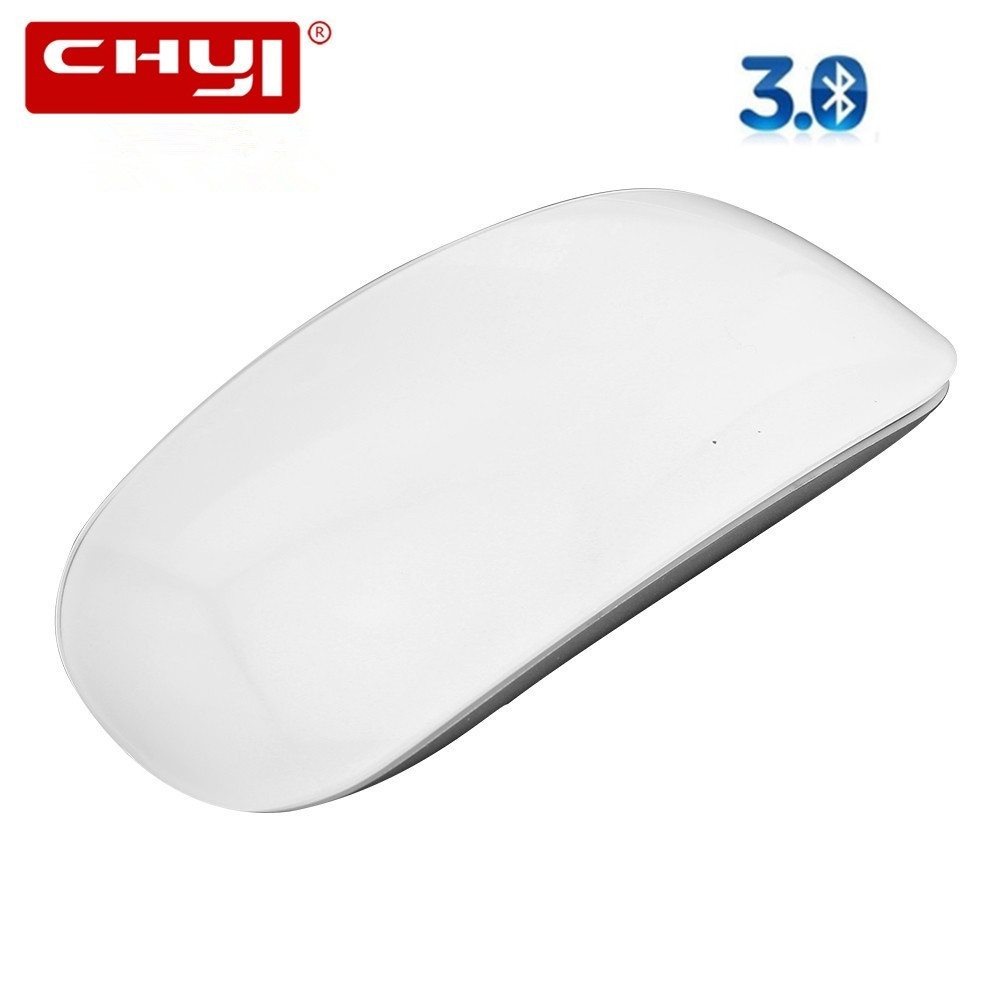 CHYI Bluetooth Wireless Magic Mouse Slim Arc Touch Mouse Ergonomic Optical USB Computer Ultra-thin BT 3.0 Mice For Apple Mac PC