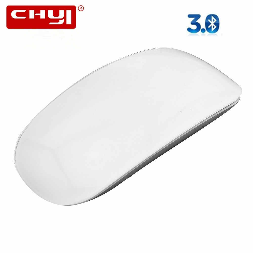Chyi Nirkabel Bluetooth Magic Mouse Slim Arc Touch Mouse Optical Ergonomis USB Komputer Ultra Tipis Bt 3.0 Tikus untuk apple MAC PC