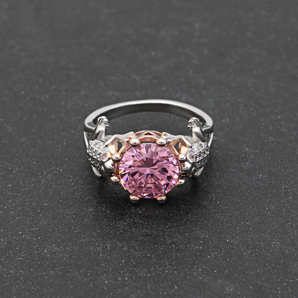 UFOORO Unique Frog Prince Shape Ring Charming Purple Birthstone Cz ...