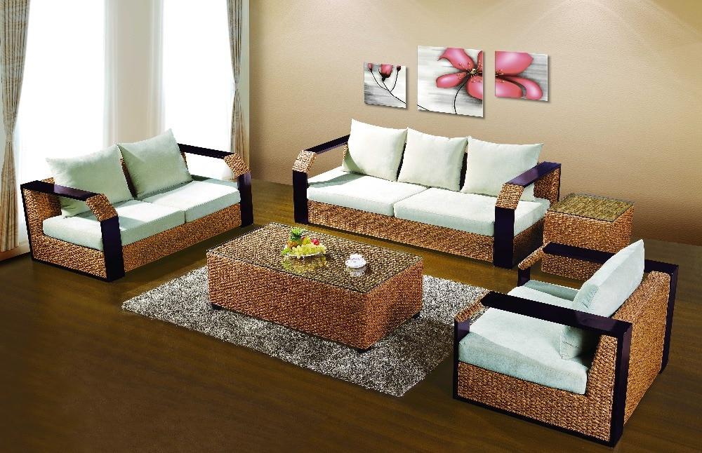 2016 new design outdoor rattan sofa tea table wicker cushioned garden patio furnitures rattan furniture