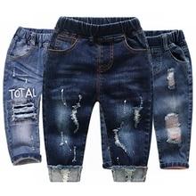 be76b27a365703 Spodnie dla dzieci chłopcy dziewczyny Jeans wiosna jesień zagęścić  rozciągliwe spodnie jeansowe dla dzieci ubrania dla