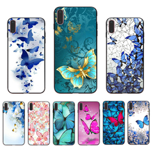 IMIDO coloful butterfly Art patterned Soft silicone fitted case for iphone X Xs Xr Xsmax 7 8 6s/6/7/8plus 6 5 5S 6S Phone shell imido oriental dragon pattern design soft black silicone phone case for iphone x xs xr xsmax 7 8 6 5 6s 6 7 8plus 5 6s tpu shell