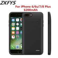 Power Case 6200mAh Portable External Bank Battery Cover For iPhone 6 6s 7 8 Plus Fast Phone Charger