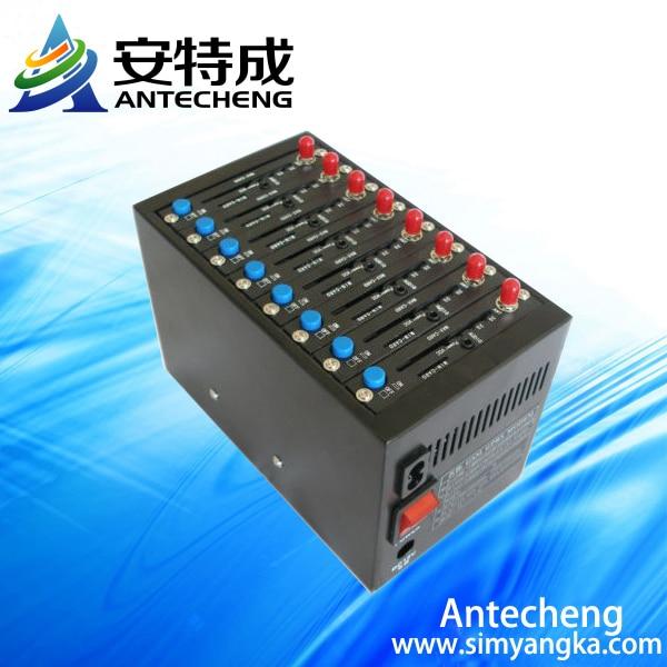 Основная GSM SMS модемный пул usb wavecom 8 портов gsm-модема Wavecom sim-карты бесплатное программное обеспечение SMS USSD antecheng