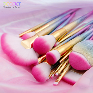 Image 3 - Docolor 18PCS Fantasy Brushes Collection Beauty Make Up Brushes Top Synthetic Hair Rainbow Hand Best Gift For Women